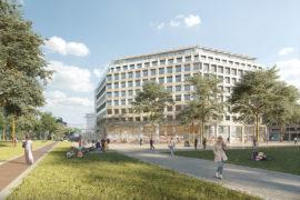 Réaménagement d'un immeuble en R+8 Paris.